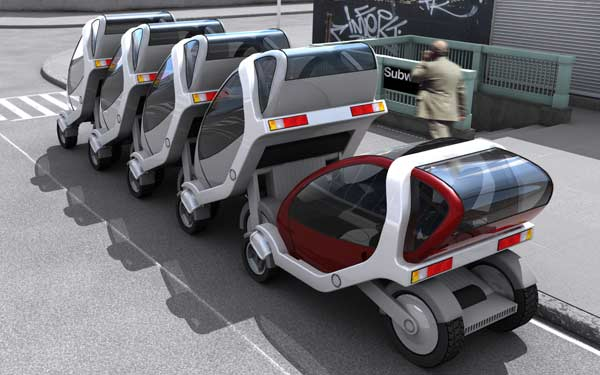 City Car, proyecto de coches apilables del MIT Media Lab
