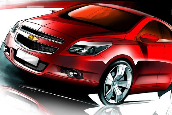 Chevrolet Agile, primeros Bocetos