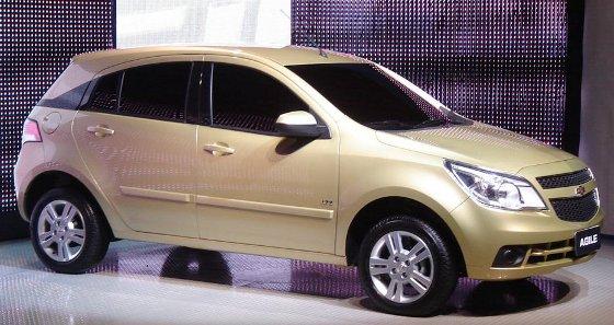 Chevrolet Agile, Avant-Premiere en Brasil