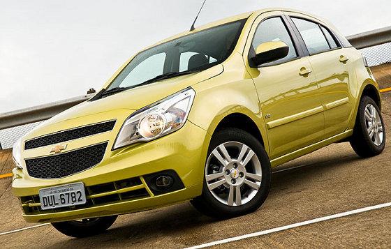 Chevrolet Agile, Datos Oficiales