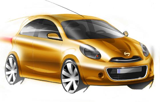 Nissan Micra 2010 (bocetos oficiales)