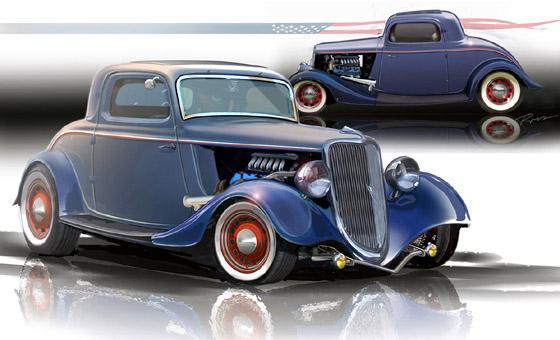 Ford '34 Hot Rod de 400 HP