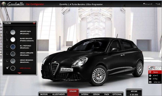 Alfa Romeo Giulietta, configura tu modelo