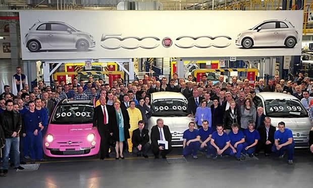 Fiat llega a las 500.000 unidades del Fiat 500