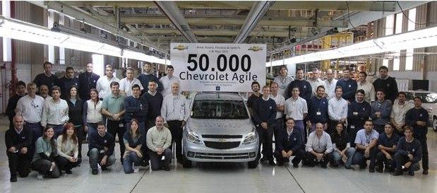 El Chevrolet Agile llego a las 50000 unidades producidas