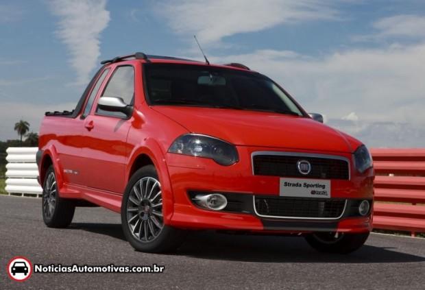 Fiat Strada Sporting  presentada oficialmente en Brasil