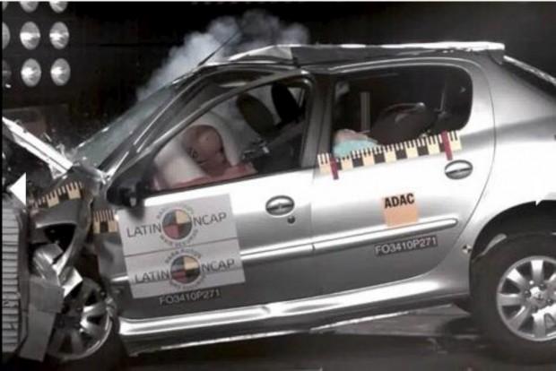 Peugeot 207 Compact 5P, Latin Ncap Crash test