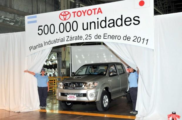 TOYOTA ARGENTINA produjo la unidad número 500.000 en su planta de Zárate