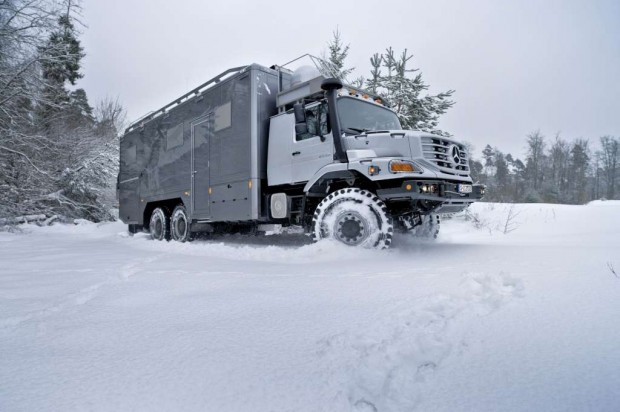 Mercedes-Benz Zetros, casa rodante 6X6 para viajar por Mongolia