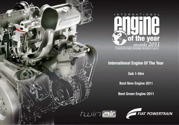 Fiat TwinAir premiado como Motor Internacional del año 2011