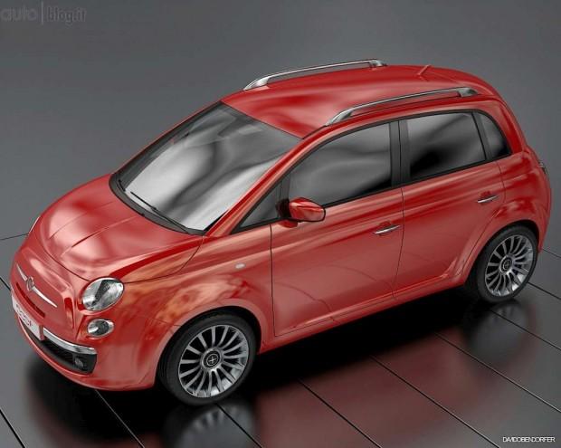 Fiat 500 MPV rendering, la propuesta de un diseñador industrial