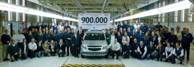 GM Argentina fabricó el vehículo número 900.000 en su Complejo Automotor de Rosario