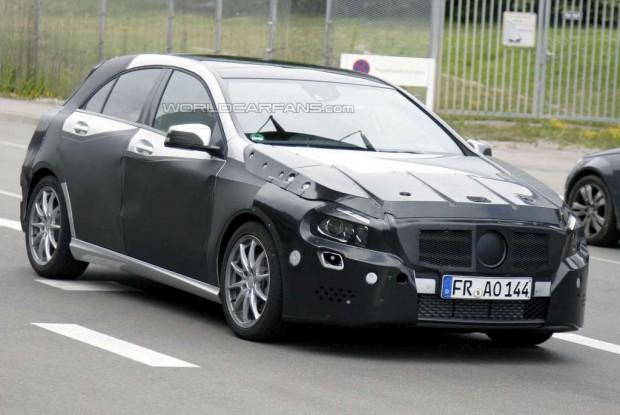 Mercedes Benz Clase A 2012 mostrado en nuevas fotos espías