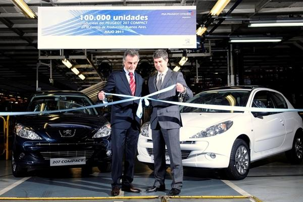 Peugeot 207 Compact, 100.000 unidades de producción