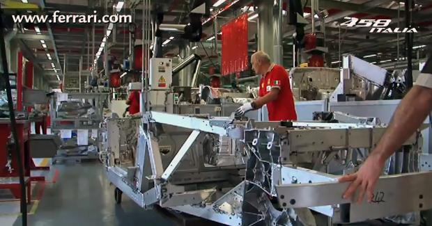 Ferrari 458 Italia, construyendo la carrocería