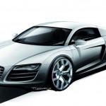 Audi R8 teaser del probable reemplazo 2014