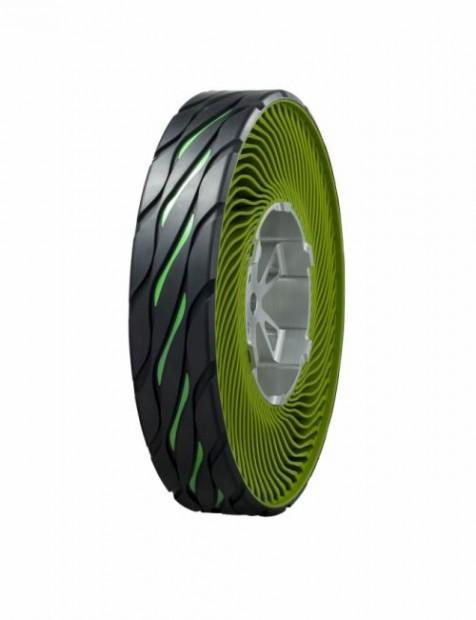 Bridgestone presenta un revolucionario concepto de neumático sin aire