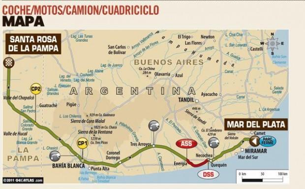 Rally Dakar 2012, resultados de las dos primeras etapas