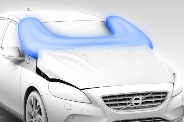 Volvo, airbag para peatones