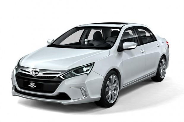 BYD Qin Electric Sedan Concept se presenta en Beijíng