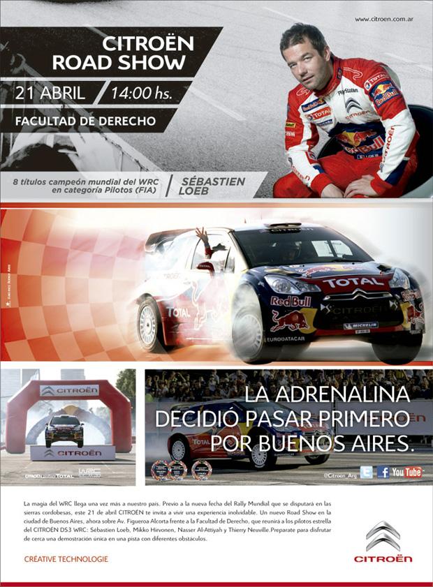 ¡Este sábado Citroën invita al Road Show con Sebastian Loeb!