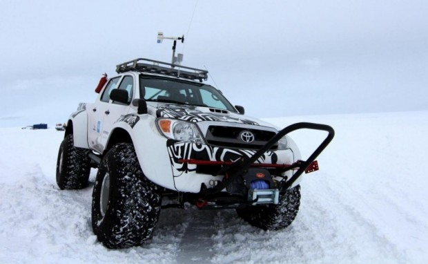 Toyota 6×6 en la Antártida
