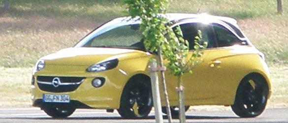 Opel Adam, fotos espía
