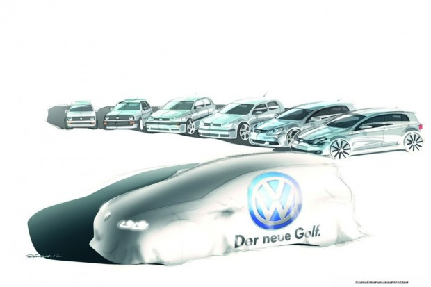 Volkswagen Golf VII, primer teaser oficial en video