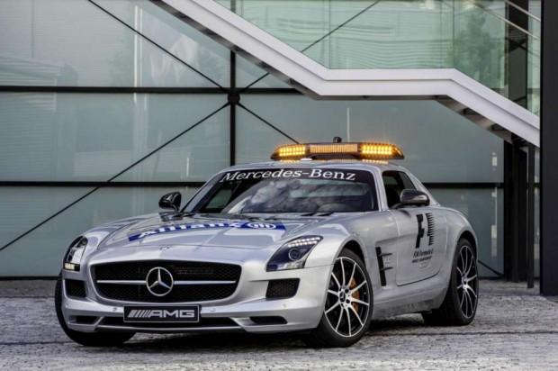 Mercedes-Benz SLS AMG GT F1 Safety Car 2012 con mas potencia y otras actualizaciones
