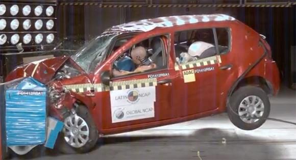 El Renault Sandero obtuvo 1 estrella en las pruebas realizadas por LatinNCAP