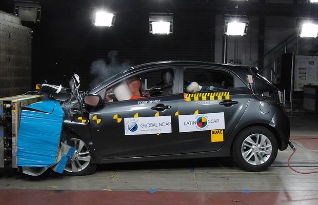 El Hyundai HB20 hatchback obtuvo 3 estrellas en seguridad para adultos y 1 estrella en protección para niños según LatinNcap