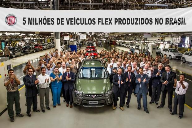 Fiat sobrepasa la marca de 5 millones de autos flex vendidos en Brasil