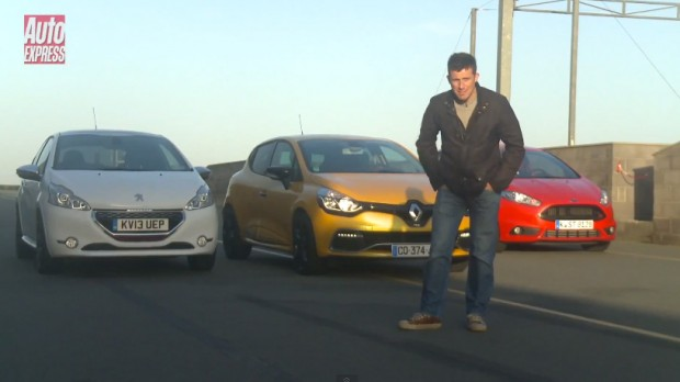 Peugeot 208 GTi vs Renault Clio RS vs Ford Fiesta ST segun la revista Autoexpress
