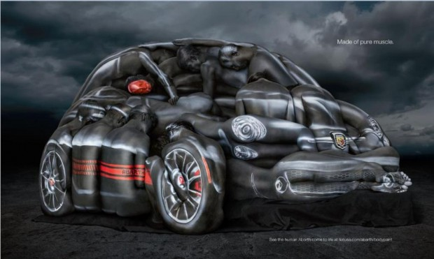 Fiat 500 Abarth, con Modelos Body-Painted
