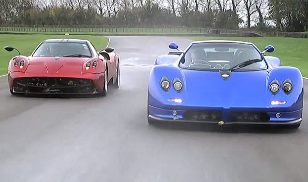 Video: Pagani Zonda vs Pagani Huayra