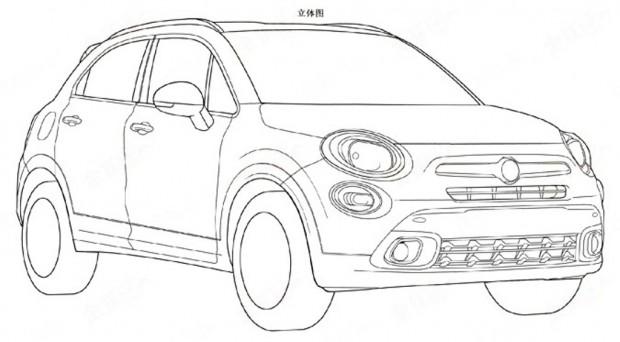 El Fiat 500x se presenta en el registro de patentes de China