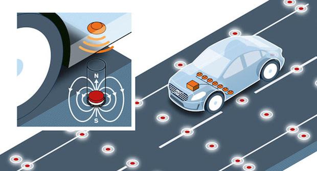 Volvo Prueba Imanes Para El Posicionamiento De Vehículos Autonomos