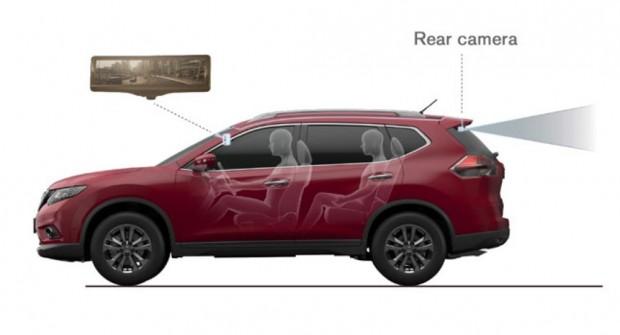 Nissan y el Espejo Retrovisor Inteligente