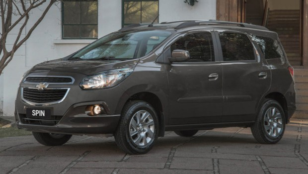 Chevrolet Spin gama 2015 con nuevo equipamiento