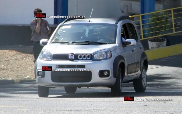 Nuevo Fiat Uno 2015, primeras fotos sin camuflaje
