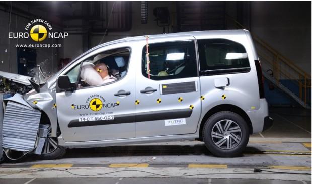 El Citroen Berlingo obtuvo 3 estrellas en la EuroNcap