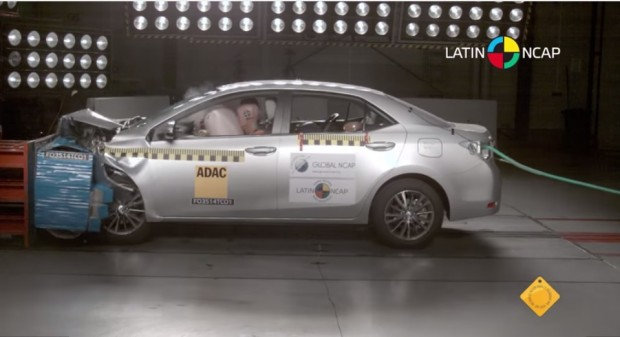 El nuevo Toyota Corolla recibe las 5 estrellas de LatinNcap