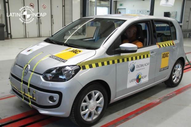 El VW up obtiene las 5 estrellas en el test de auditoria de Latin Ncap